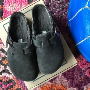 Birkenstock Boston Shearling Clog, size 7